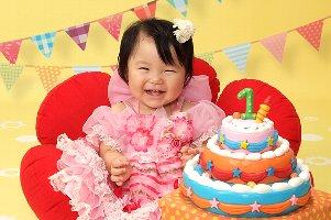 子供写真館、スタジオアリスの誕生日記念写真1