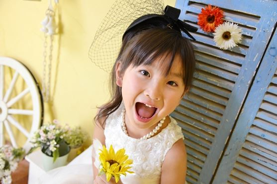 子供写真館、フォトスタジオ・フルリの誕生日記念写真