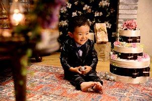 子供写真館、ハピリィフォトスタジオの誕生日記念写真5