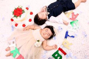 子供写真館、ハピリィフォトスタジオの誕生日記念写真6