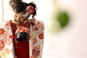 子供写真館、ライフスタジオの誕生日記念写真1