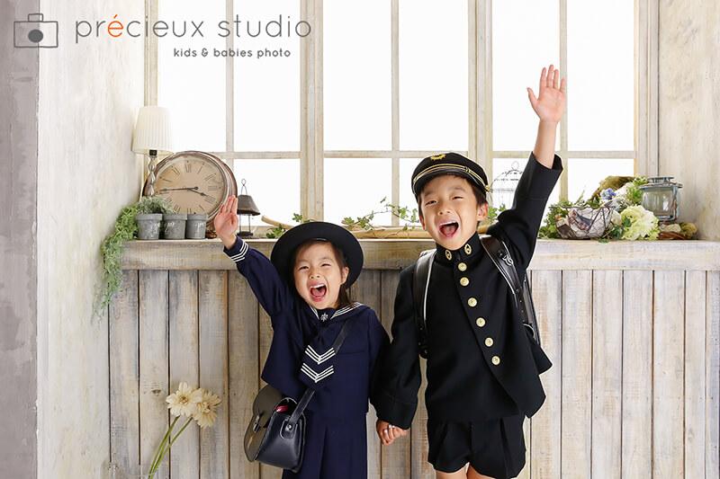 世田谷区プレシュスタジオ世田谷本店の入学式写真