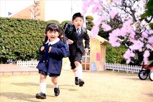 子供写真館、フォトスタジオ・フルリの入学入園記念写真1