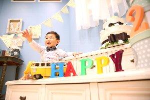 子供写真館、ハピリィフォトスタジオの誕生日記念写真2