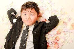 子供写真館、ラブストフォトスタジオの入園入学記念写真1