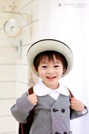 子供写真館、プレシュスタジオの入学入園記念写真2