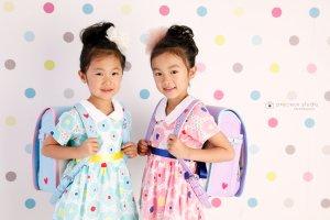 子供写真館、プレシュスタジオの入学入園記念写真3