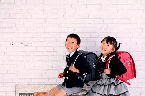 子供写真館、プレシュスタジオの入学入園記念写真