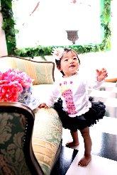 子供写真館、バンビースタジオの誕生日記念写真1