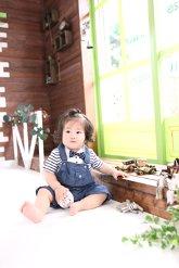 子供写真館、バンビースタジオの誕生日記念写真3