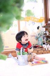 子供写真館、バンビースタジオの誕生日記念写真5