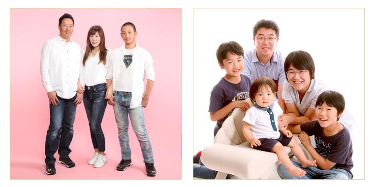 ファミリー写真館スマイル府中店の家族写真写真
