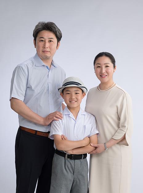 伊勢丹写真室新宿店の家族写真写真