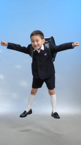 藤原写真館の入学式写真