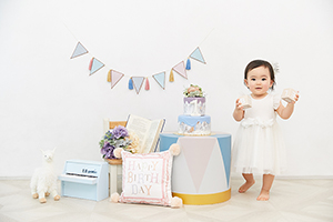 たまひよの写真スタジオ仙川店の誕生日写真