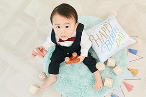 たまひよの写真スタジオ池袋店の誕生日写真